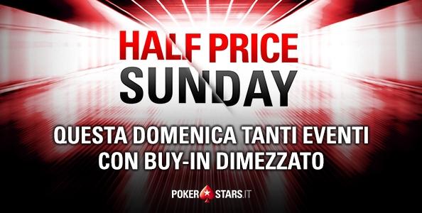 'Half Price Sunday' su PokerStars: domenica prossima 11 tornei con buy-in scontato del 50% e garantiti invariati!