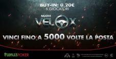 Novità d'agosto su People's: VeloX da 20 cents e sei giocatori con montepremi fino 1.000€