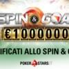 Qualificati GRATIS agli Spin&Goal da 5€, puoi vincere UN MILIONE!!!