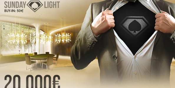 Questa domenica su People's Poker il Super Sunday diventa 'Light': 50€ di buy-in e montepremi garantito di 20.000€!!!
