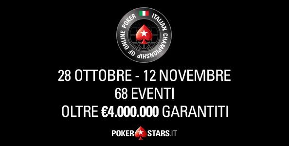 Torna l'ICOOP su PokerStars con 4.000.000€ garantiti dal 28 ottobre al 12 novembre