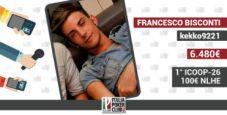 """Francesco Bisconti esulta per lo shippo ICOOP e non solo: """"Ho vinto 40.000€ in sei mesi su PokerStars"""""""