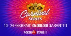 Cinque schedule per le Carnival Series di PokerStars.it