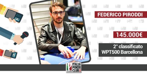 Piroddi ci racconta il suo 2° posto al WPT di Barcellona: Non posso lamentarmi, bella iniezione di fiducia