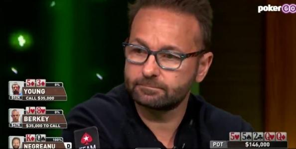 Che mano fra Justin Young e Daniel Negreanu: 'Kidpoker' spegne il rivale