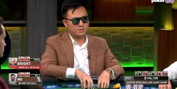 Super High Roller Cash Game – Oscar Ng ci mette 10 secondi a foldare second nuts al river!