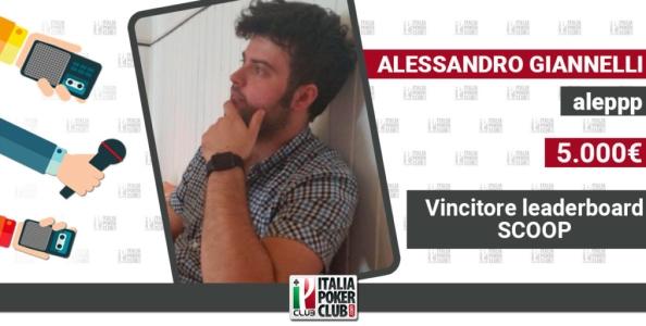 Alessandro Giannelli: il bis nella leaderboard SCOOP, strategie e nuovi obiettivi
