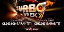 Turbo Week su PokerStars, in arrivo 36 tornei veloci per un garantito complessivo di oltre un milione!