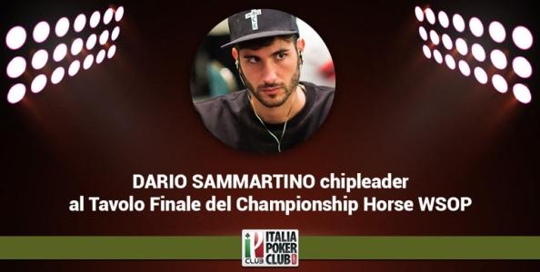 Blog Live: segui Dario Sammartino chipleader al Tavolo Finale WSOP HORSE Championship!