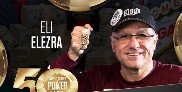 WSOP – Quarto braccialetto in carriera per Eli Elezra! Out gli azzurri dal Double Stack
