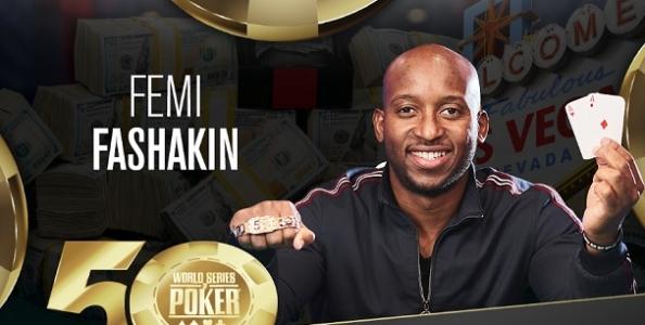 WSOP – Femi Fashakin trionfa nel BIG 50 e incassa 1.147.449 dollari