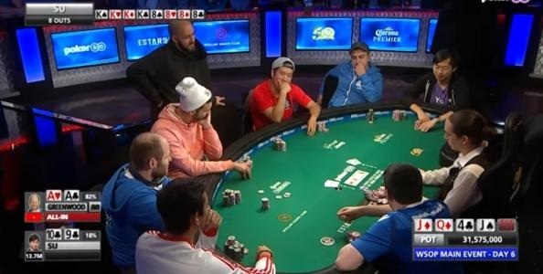 Perché Sam Greenwood era al tavolo con Sammartino nel Day 6 del Main WSOP?