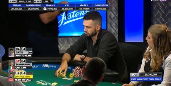 Incredibile fold di Livingston al final table del Main WSOP! Perché ha passato Q-Q preflop?
