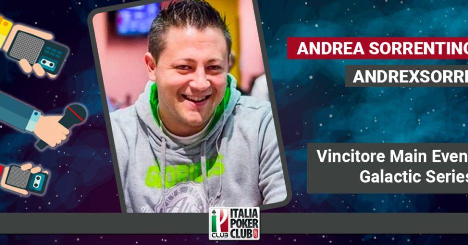 Quella profezia avverata e il ruolo del papà: la cavalcata trionfale di Andrea Sorrentino al Main Event Galactic Series