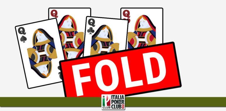 Come nasce la decisione di foldare poker