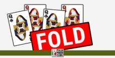 Come nasce la decisione di foldare poker
