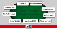 I grafici e le statistiche dei finalisti del Main Event Winter Series