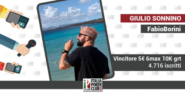 Il fascino indiscreto dei tornei low buy-in per il vittorioso Giulio Sonnino