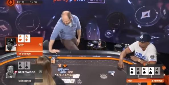 Le sportellate tra Phil Ivey e Sam Greenwood al Tavolo Finale del 50k Millions SD Sochi