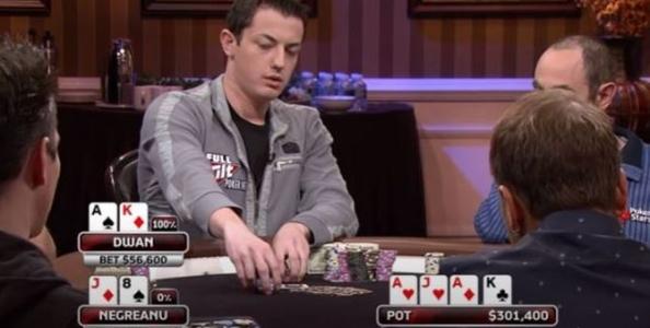 High Stakes Poker: Tom Dwan ha il nuts e Daniel Negreanu tenta il tuffo