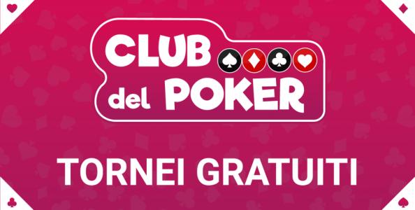Club del Poker – Stasera il freeroll Esclusivo di SNAI alle 21! Il calendario dei nostri tornei gratuiti