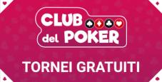 Stasera alle 21 su Sisal il freeroll del Club del Poker!
