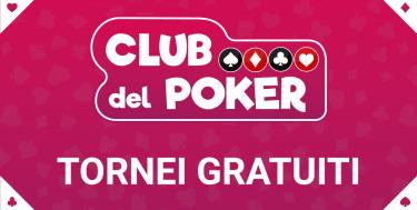 Club del Poker – Stasera alle 21 freeroll su Snai!