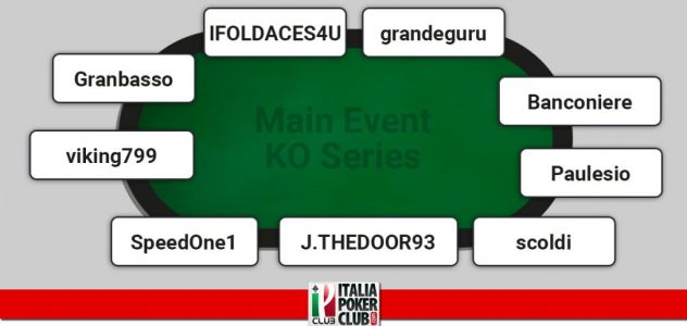 I grafici e le statistiche dei finalisti del Main Event KO Series