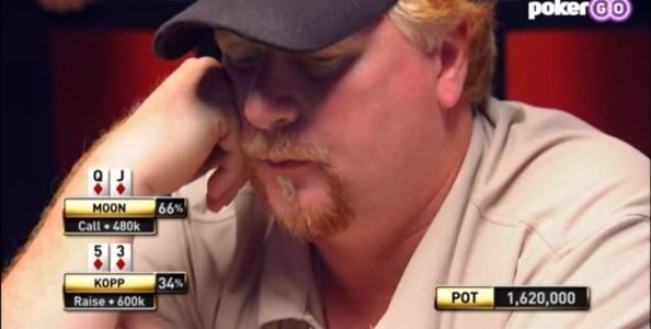 Cooler imparabile o errore madornale? Kopp vs Moon, WSOP 2009