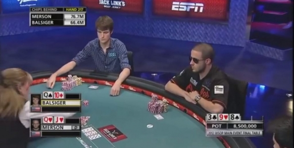 WSOP 2012 Final Table: Greg Merson, che duro!