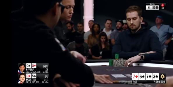 PokerStars Players Championship 2019: Martini-Rivera, una mano da money scared