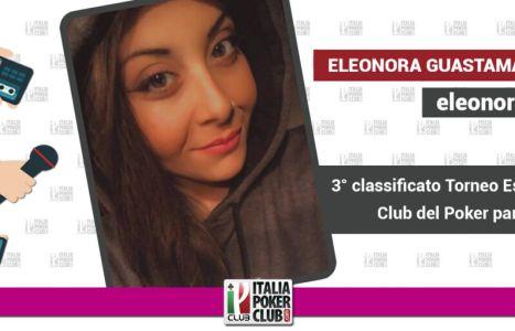 Eleonora Guastamacchia terza al torneo esclusivo Club del Poker di partypoker