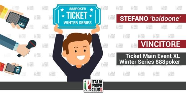 I protagonisti del Club del Poker: Stefano baldoone al Main Event XL Winter Series di 888poker