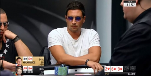 PokerStars Championship Montecarlo 2017: Dietrich vs Kolkowicz, quando AK è un problema