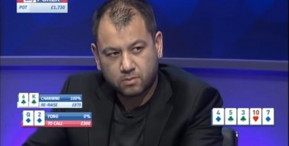 Sky Poker Cash Game: Channing vs Yong, sfida assurda tra spewer