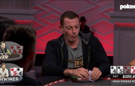 High Stakes Poker: il bet/call river di Tom Dwan con top pair top kicker