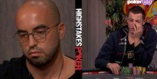 High Stakes Poker: Kenney check-pusha river, Dwan folda top two e indovina il punto avversario