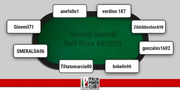 I grafici e le statistiche dei finalisti del Sunday Special Half Price aprile 2021