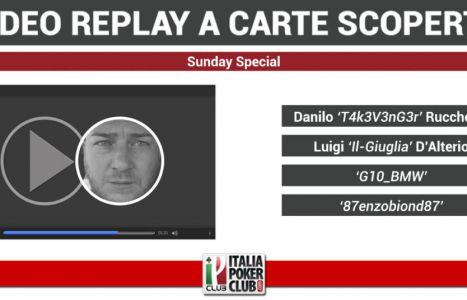 Video-replay a carte scoperte: il tavolo finale del Sunday Special vinto da Danilo Rucchetta