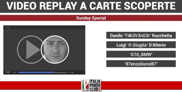Video-replay a carte scoperte: il tavolo finale del Sunday Special vinto da Danilo Rucchetta