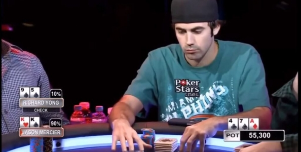 Aussie Millions 2015 High Stakes Cash Game: i re con l'asso sul board