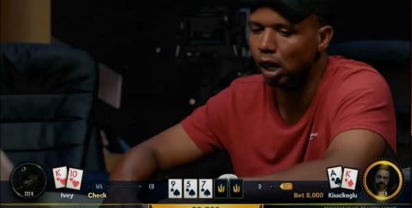 Non checkare turn contro Phil Ivey se non vuoi essere outplayato