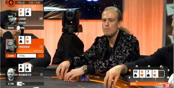 PartyPoker Live: il video Andersson vs Romanello, ballano i due assi