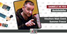 La vittoria al Main Event Summer Freeze con le parole di Daniele De Feo