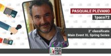 L'attrazione fatale per i deal di Pasquale 1paco72 Plevano, secondo al Main Event XL Spring Series