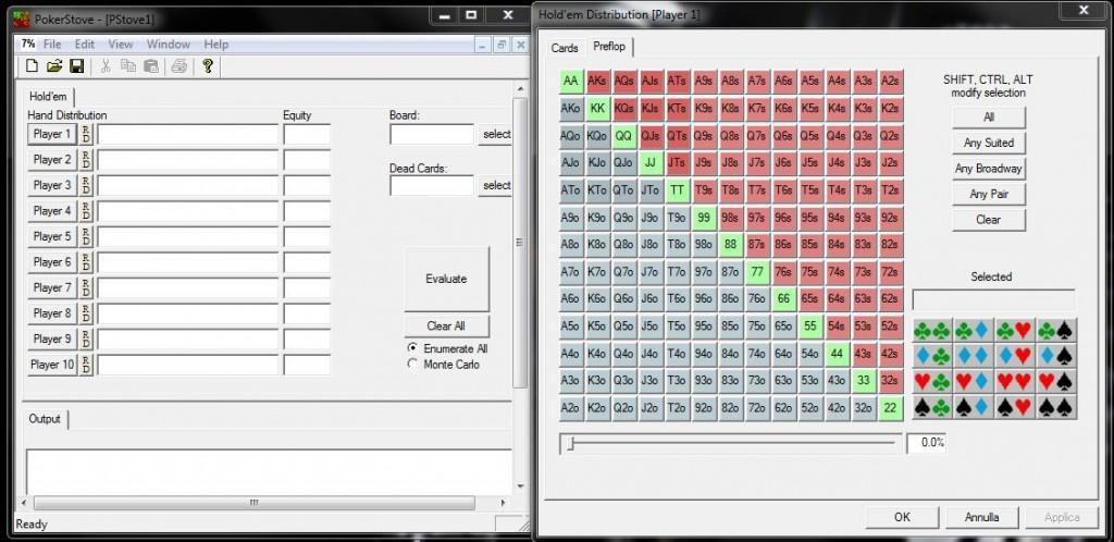 Pokerstove il pi completo programma per il calcolo delle odds italiapokerclub - Programma per calcolo posa piastrelle ...