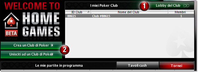 Home Game di Pokerstars.it