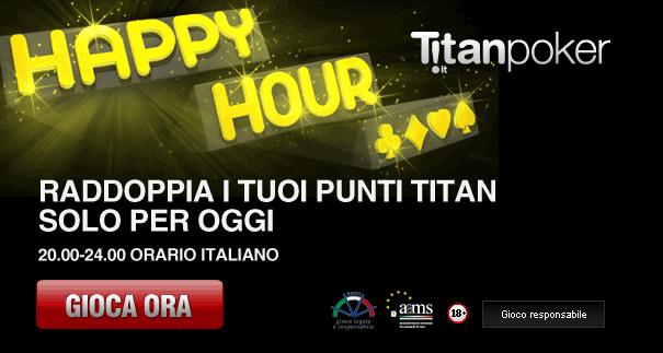 Oggi Raddoppia I Punti Con L Happy Hour Di Titanbet