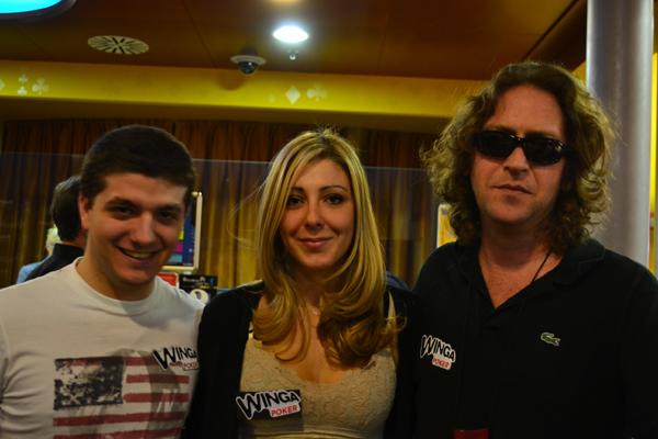 Vito Planeta insieme a Rocco Palumbo e Carlotta Ceccatelli del Team Pro Winga