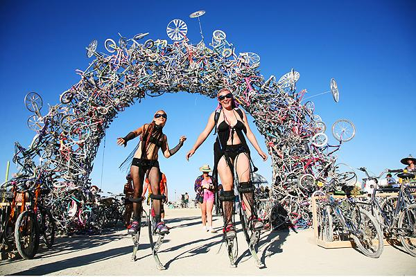 "Il ""Burning Man"" in Nevada"
